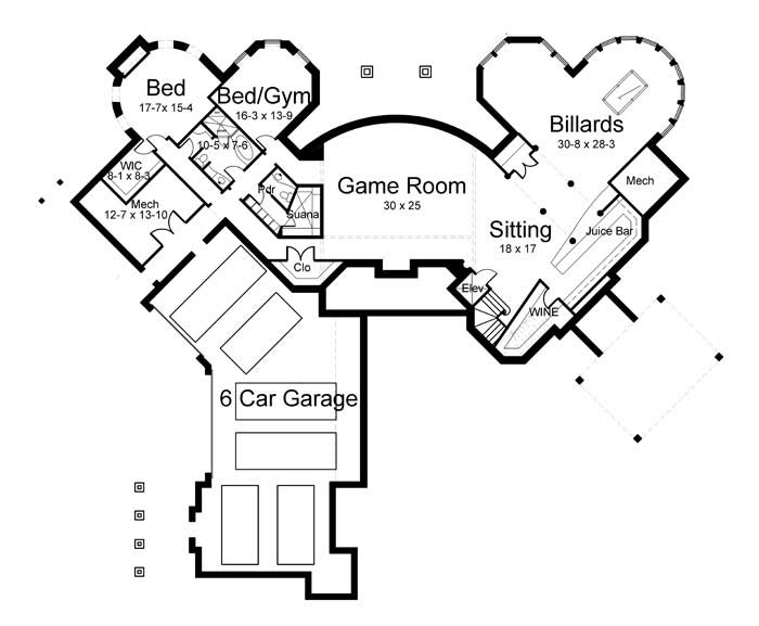 Floor Plan Basement (Alternate)