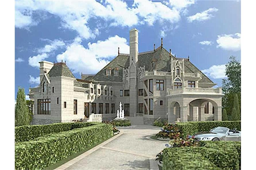 Home Plan Rendering of this 6-Bedroom,7236 Sq Ft Plan -7236