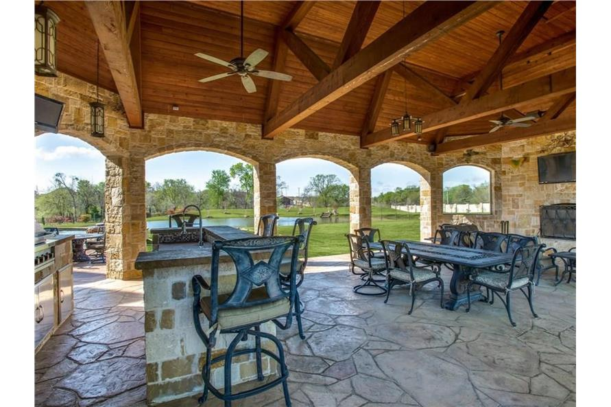 Patio of this 6-Bedroom,7236 Sq Ft Plan -7236