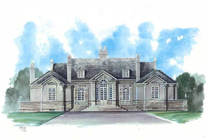 Home Plan Rendering of this 3-Bedroom,3820 Sq Ft Plan -106-1172