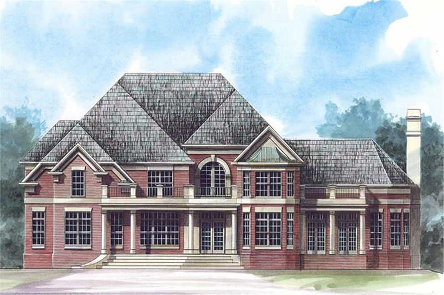 Home Plan Rendering of this 4-Bedroom,3676 Sq Ft Plan -106-1174