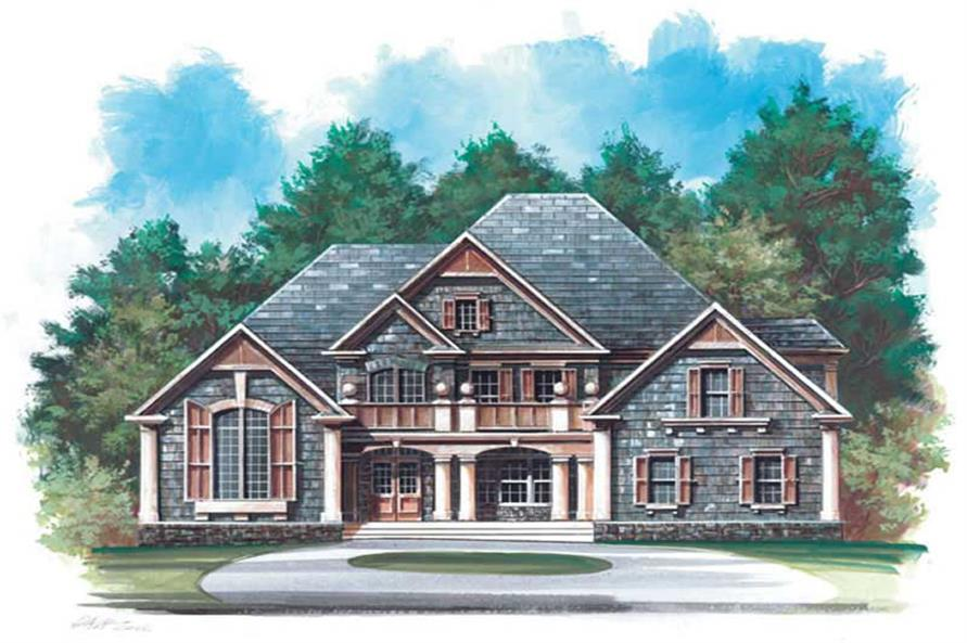 Home Plan Rendering of this 4-Bedroom,3255 Sq Ft Plan -106-1175