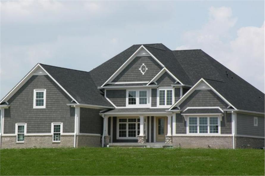 4-Bedroom, 3255 Sq Ft Colonial Home Plan - 106-1175 - Main Exterior