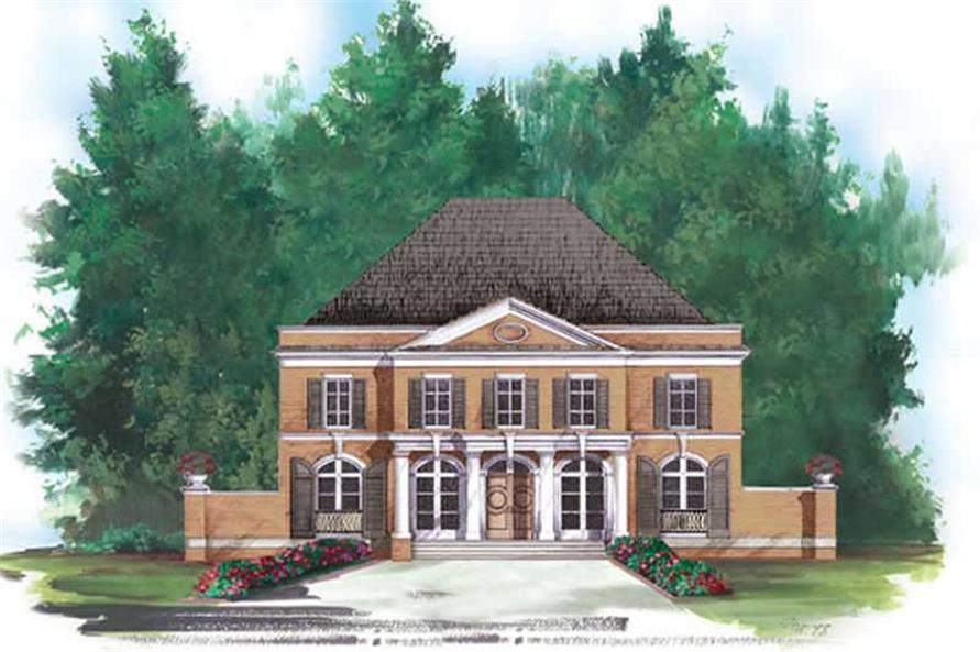 FRONT ELEVATION of this 5-Bedroom,3073 Sq Ft Plan -3073