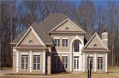 4-Bedroom, 3143 Sq Ft European Home Plan - 106-1177 - Main Exterior