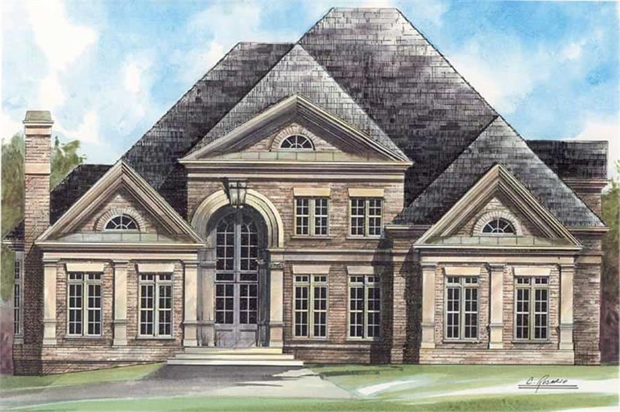 Home Plan Rendering of this 4-Bedroom,3143 Sq Ft Plan -106-1177