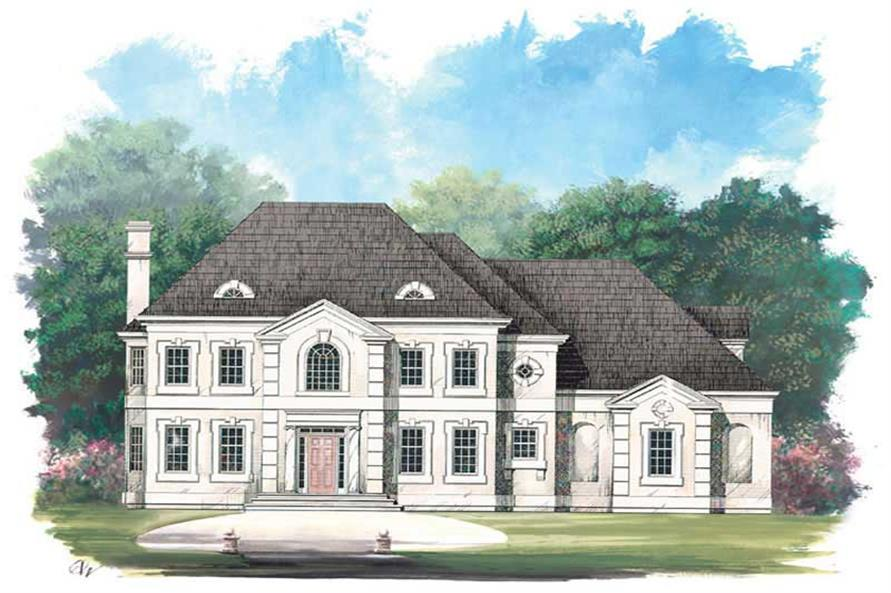 FRONT ELEVATION of this 4-Bedroom,2996 Sq Ft Plan -2996