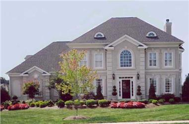 4-Bedroom, 2996 Sq Ft Colonial Home Plan - 106-1181 - Main Exterior