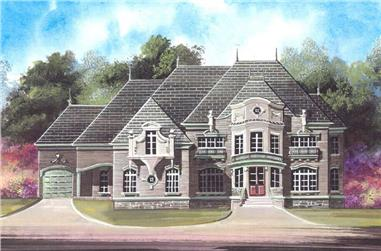 5-Bedroom, 5701 Sq Ft European House Plan - 106-1184 - Front Exterior