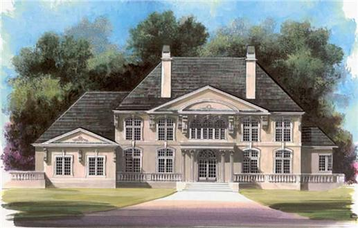 Luxury Homeplans color rendering.