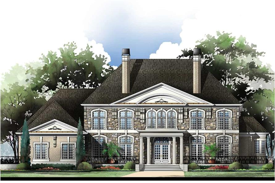 Front View of this 5-Bedroom,5691 Sq Ft Plan -106-1185