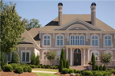 5-Bedroom, 5691 Sq Ft Colonial House - Plan #106-1185 - Front Exterior