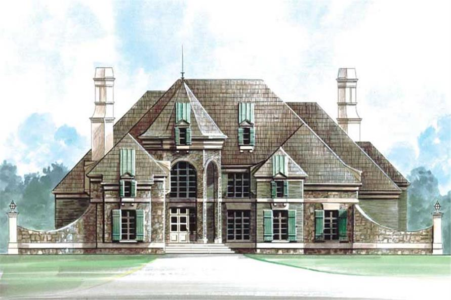 4-Bedroom, 5580 Sq Ft European House Plan - 106-1186 - Front Exterior