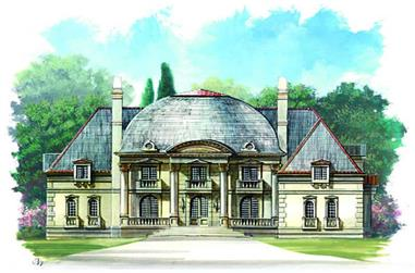 4-Bedroom, 5452 Sq Ft European House Plan - 106-1187 - Front Exterior