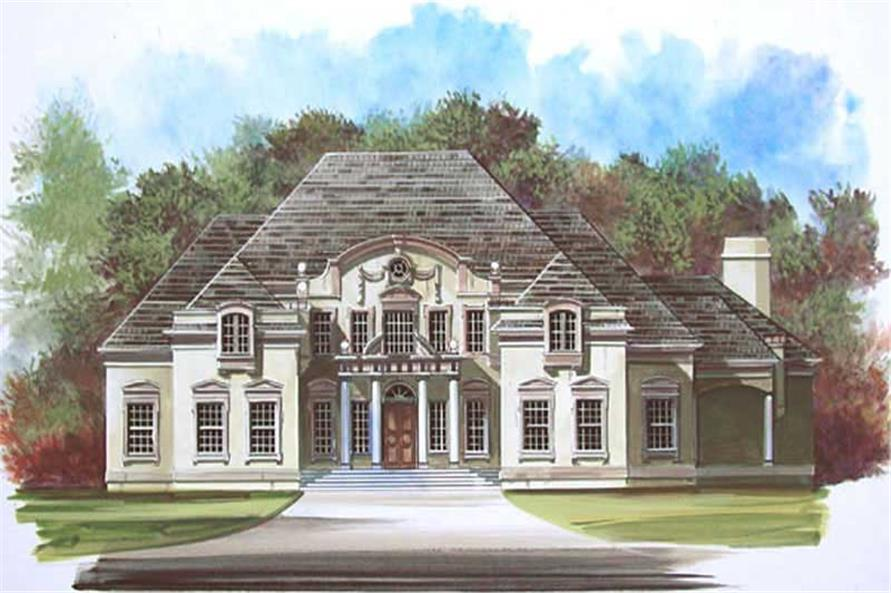 FRONT ELEVATION of this 3-Bedroom,5258 Sq Ft Plan -5258