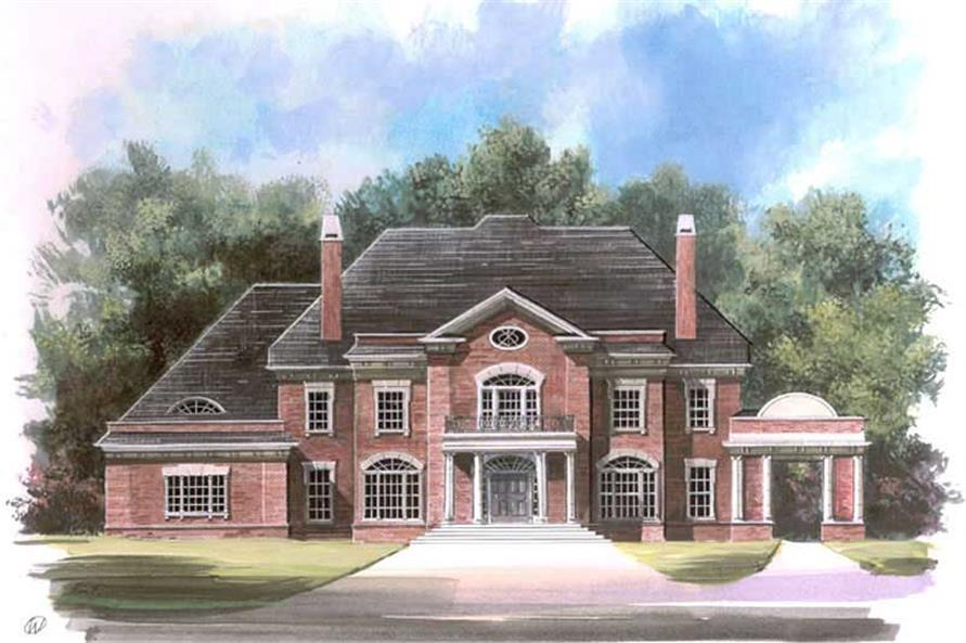 5-Bedroom, 5083 Sq Ft Colonial Home Plan - 106-1190 - Main Exterior