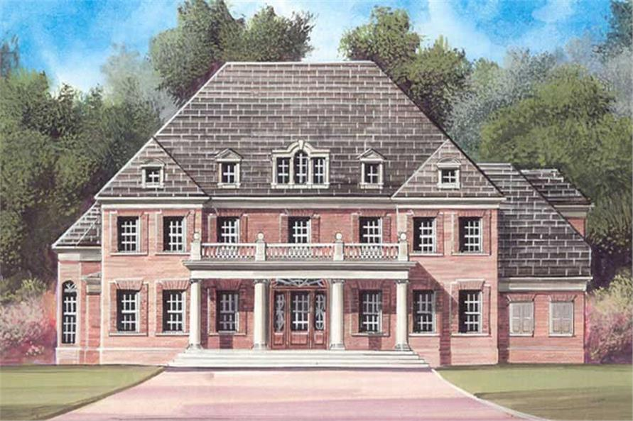 4-Bedroom, 4899 Sq Ft Colonial Home Plan - 106-1192 - Main Exterior