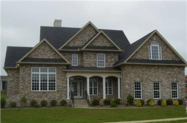 4-Bedroom, 2773 Sq Ft European Home Plan - 106-1193 - Main Exterior