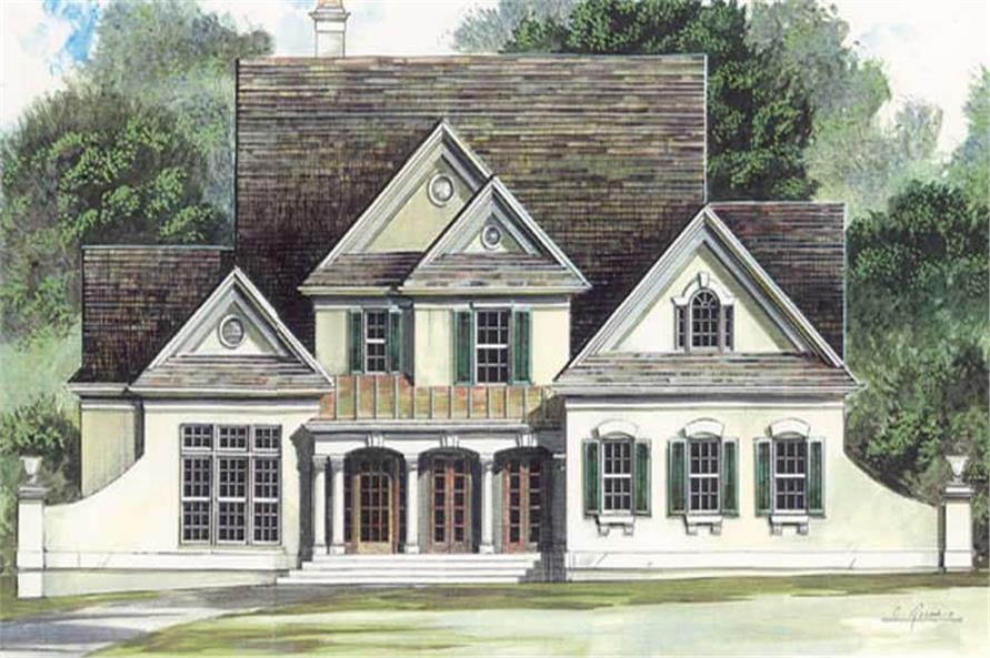 FRONT ELEVATION of this 4-Bedroom,2773 Sq Ft Plan -2773