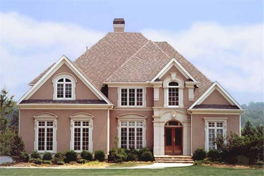 4-Bedroom, 3065 Sq Ft European Home Plan - 106-1194 - Main Exterior