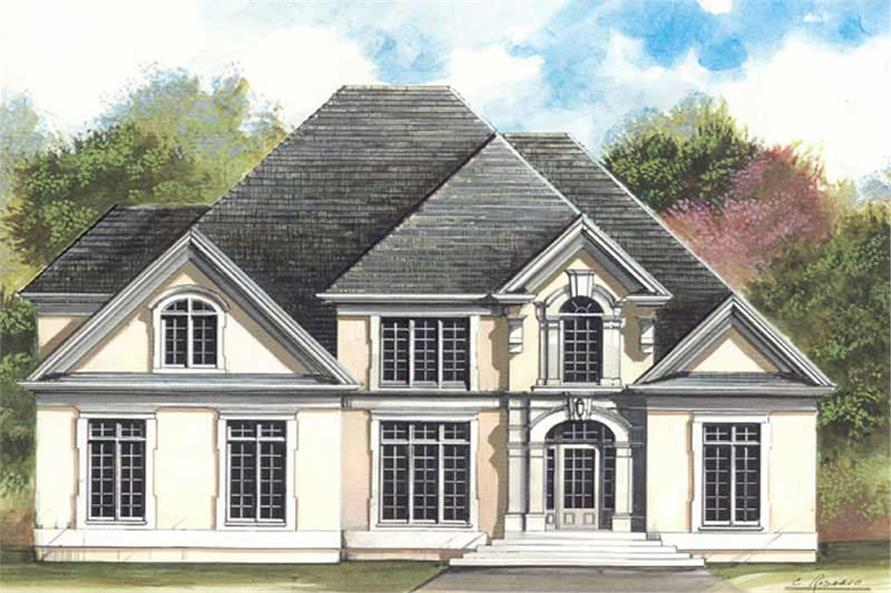 FRONT ELEVATION of this 4-Bedroom,3065 Sq Ft Plan -3065