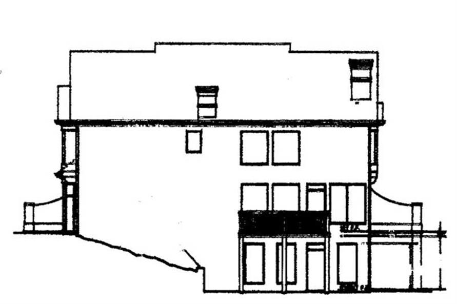 Home Plan Rear Elevation of this 4-Bedroom,2682 Sq Ft Plan -106-1198