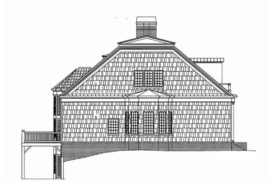 Home Plan Left Elevation of this 3-Bedroom,2603 Sq Ft Plan -106-1199