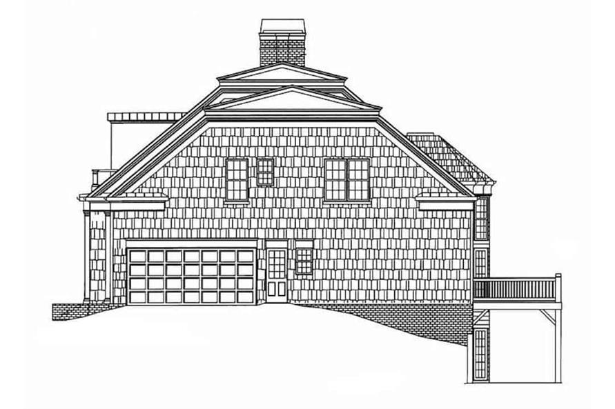 Home Plan Right Elevation of this 3-Bedroom,2603 Sq Ft Plan -106-1199
