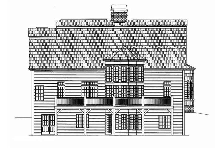 Home Plan Rear Elevation of this 3-Bedroom,2603 Sq Ft Plan -106-1199