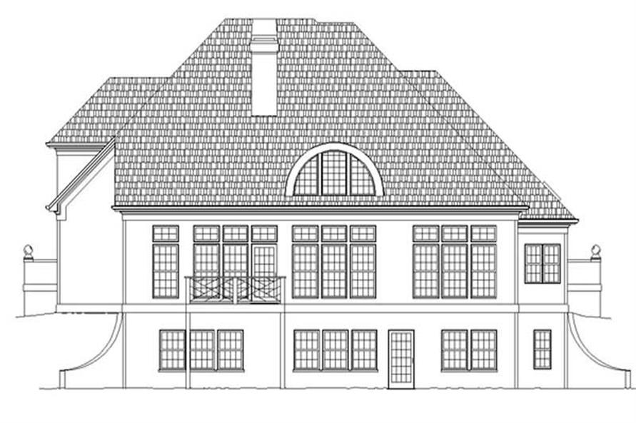 Home Plan Rear Elevation of this 4-Bedroom,2626 Sq Ft Plan -106-1201