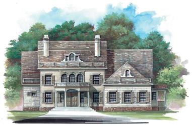 4-Bedroom, 3159 Sq Ft Colonial Home Plan - 106-1202 - Main Exterior