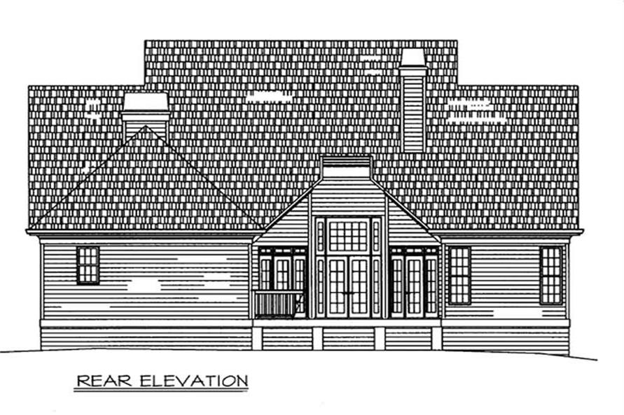 Home Plan Rear Elevation of this 3-Bedroom,2385 Sq Ft Plan -106-1204