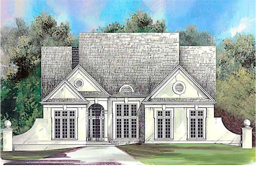 European style home plan (ThePlanCollection: House Plan #106-1204)