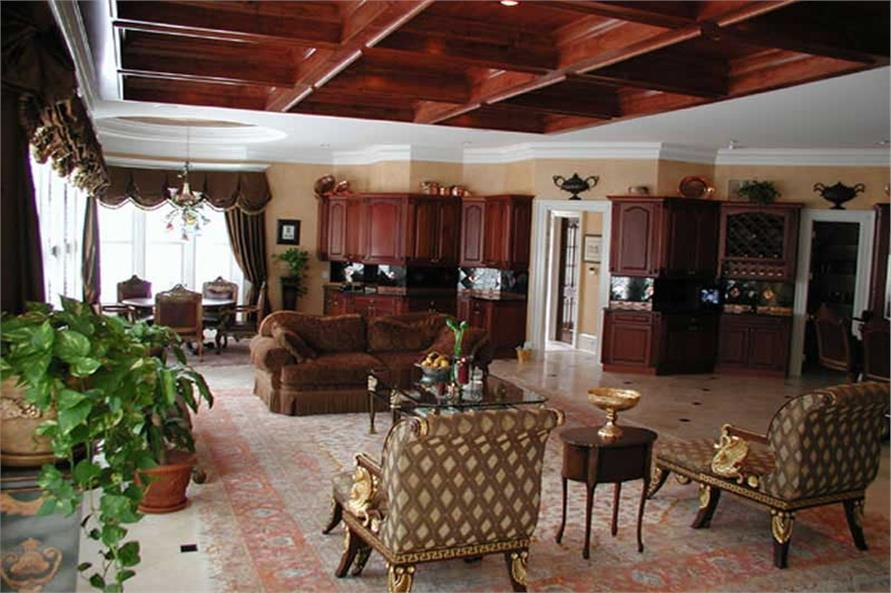 Family Room of this 6-Bedroom,8210 Sq Ft Plan -8210