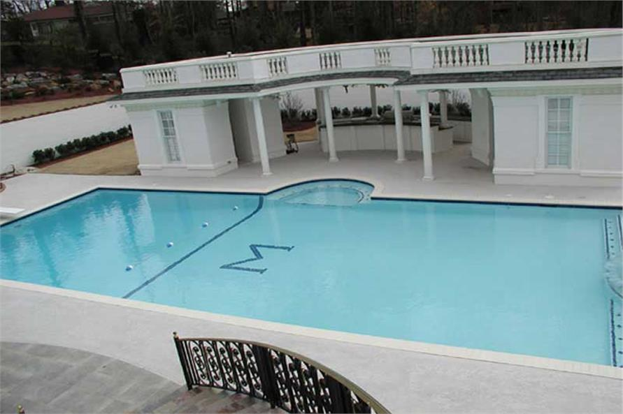 Pool of this 6-Bedroom,8210 Sq Ft Plan -8210