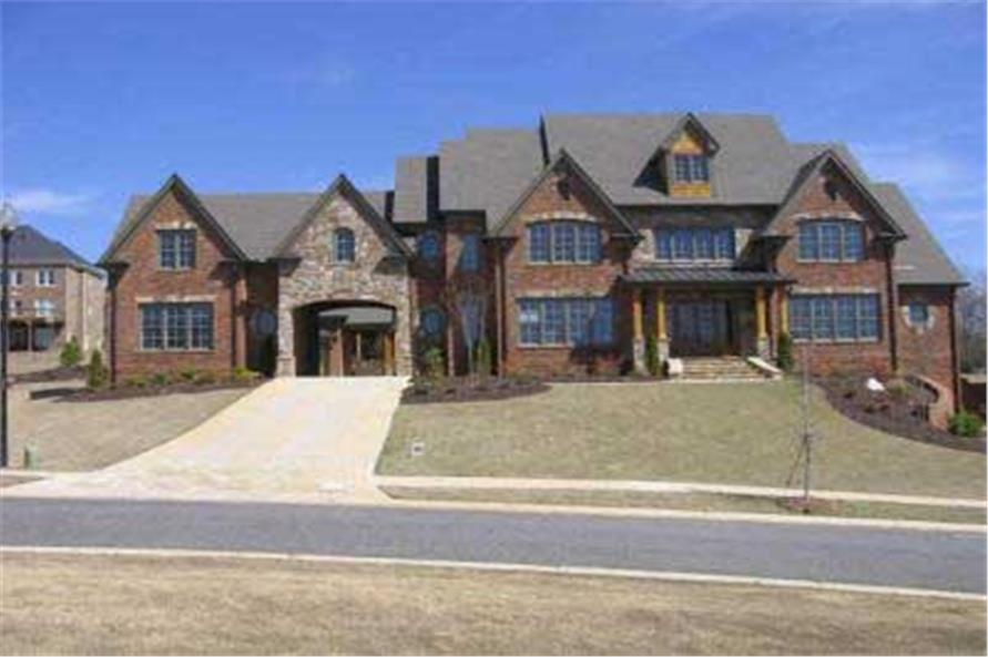 Home Plan Front Elevation of this 4-Bedroom,4589 Sq Ft Plan -106-1207