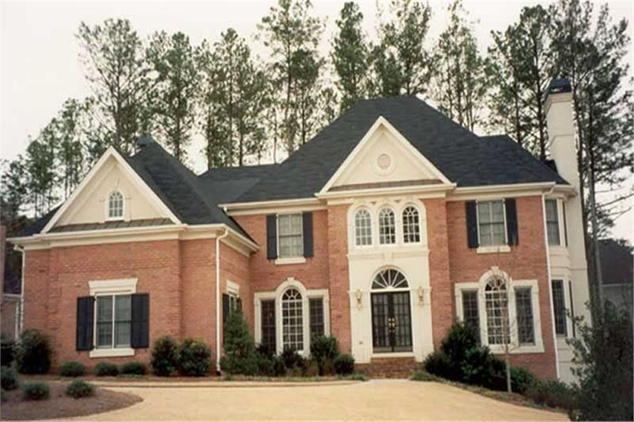 4-Bedroom, 3266 Sq Ft European Home Plan - 106-1211 - Main Exterior