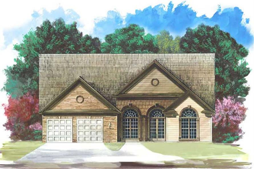 3-Bedroom, 1775 Sq Ft European Home Plan - 106-1212 - Main Exterior
