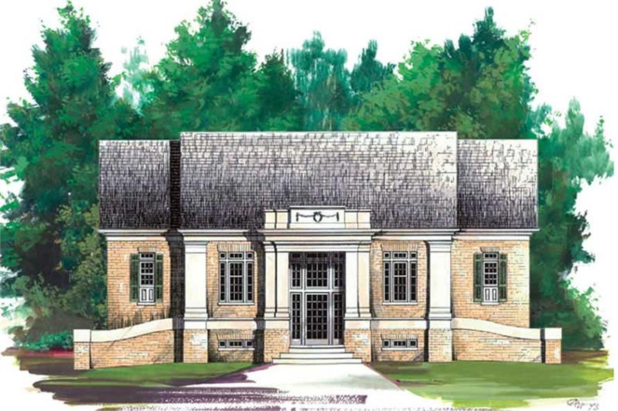 4-Bedroom, 1940 Sq Ft European House Plan - 106-1214 - Front Exterior