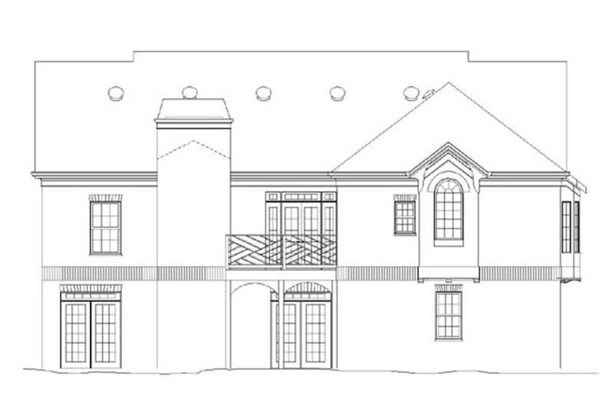 Home Plan Rear Elevation of this 4-Bedroom,1940 Sq Ft Plan -106-1214