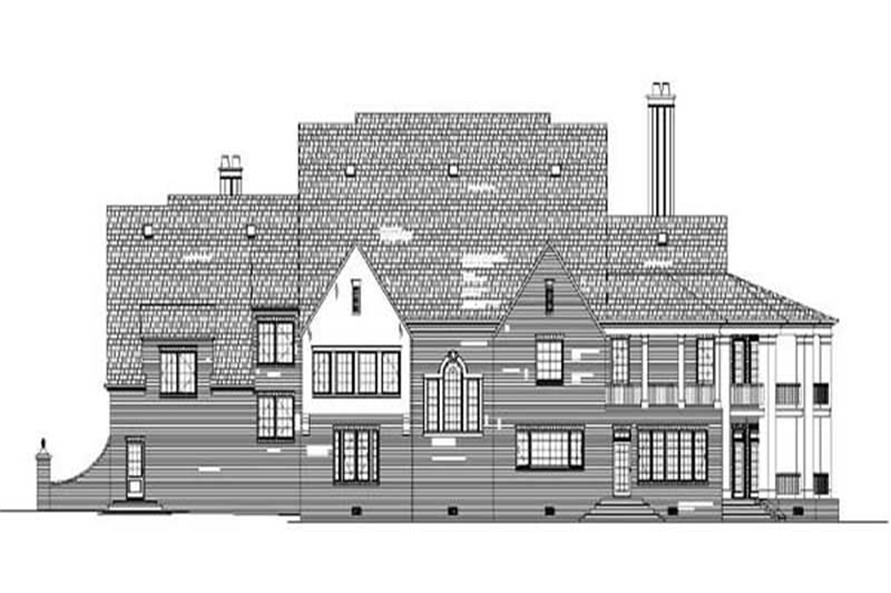 Home Plan Rear Elevation of this 4-Bedroom,5745 Sq Ft Plan -106-1216