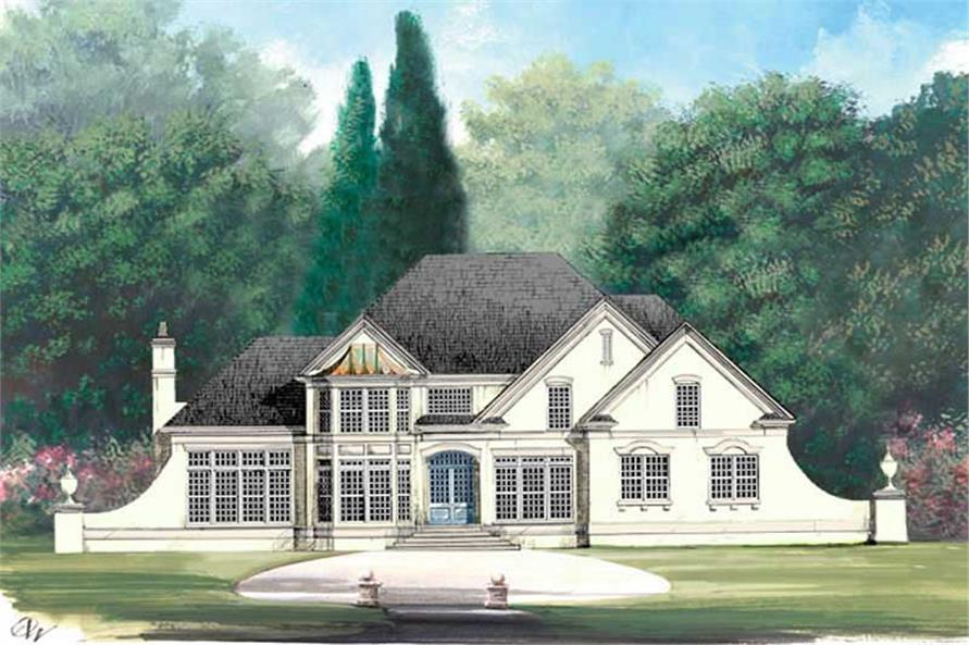 4-Bedroom, 2261 Sq Ft European Home Plan - 106-1217 - Main Exterior