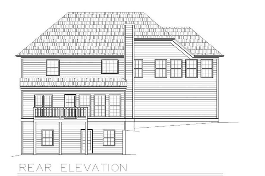 Home Plan Rear Elevation of this 3-Bedroom,1653 Sq Ft Plan -106-1220