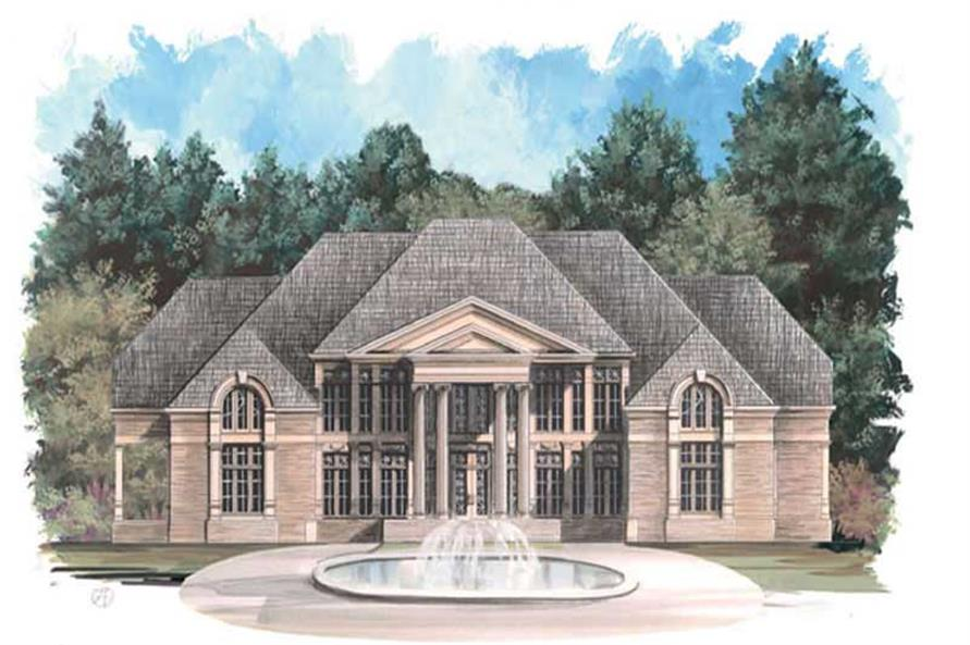 FRONT ELEVATION of this 5-Bedroom,6095 Sq Ft Plan -6095
