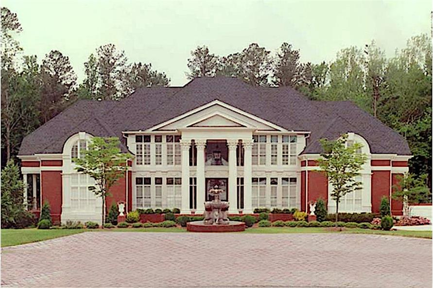 5-Bedroom, 6095 Sq Ft Colonial Home Plan - 106-1223 - Main Exterior