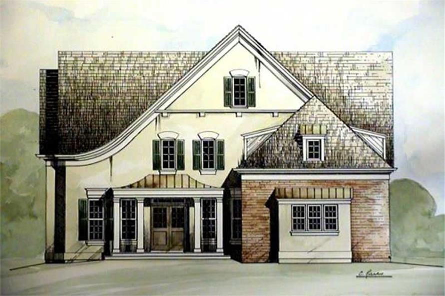 4-Bedroom, 2505 Sq Ft European House Plan - 106-1225 - Front Exterior