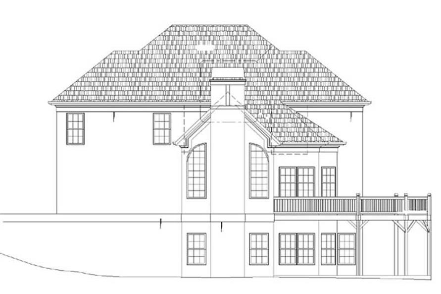 Home Plan Rear Elevation of this 4-Bedroom,2942 Sq Ft Plan -106-1228