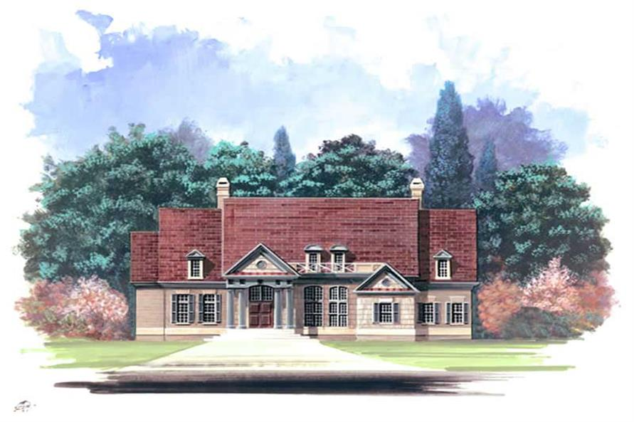 4-Bedroom, 2964 Sq Ft European Home Plan - 106-1229 - Main Exterior