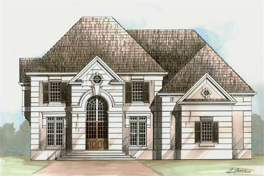 5-Bedroom, 3330 Sq Ft European Home Plan - 106-1232 - Main Exterior