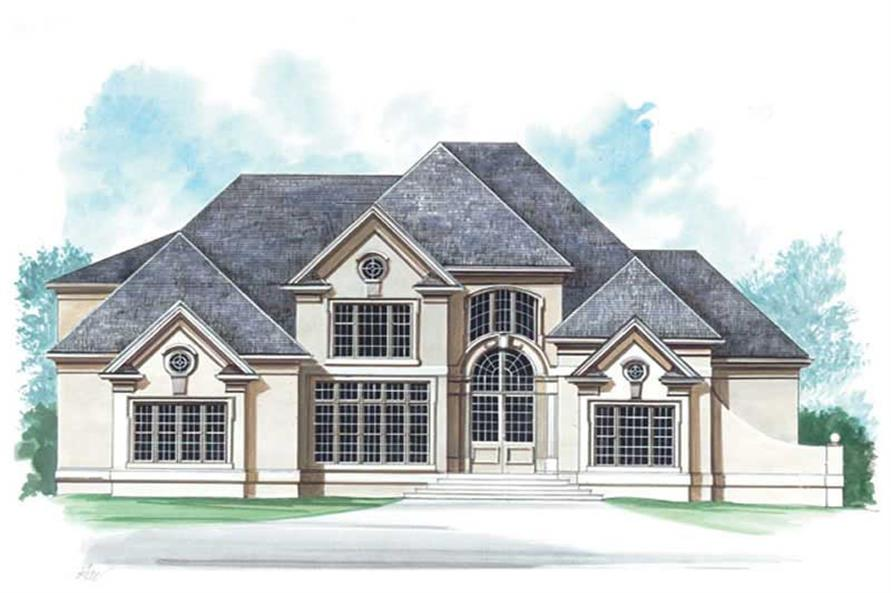 5-Bedroom, 3152 Sq Ft European Home Plan - 106-1235 - Main Exterior